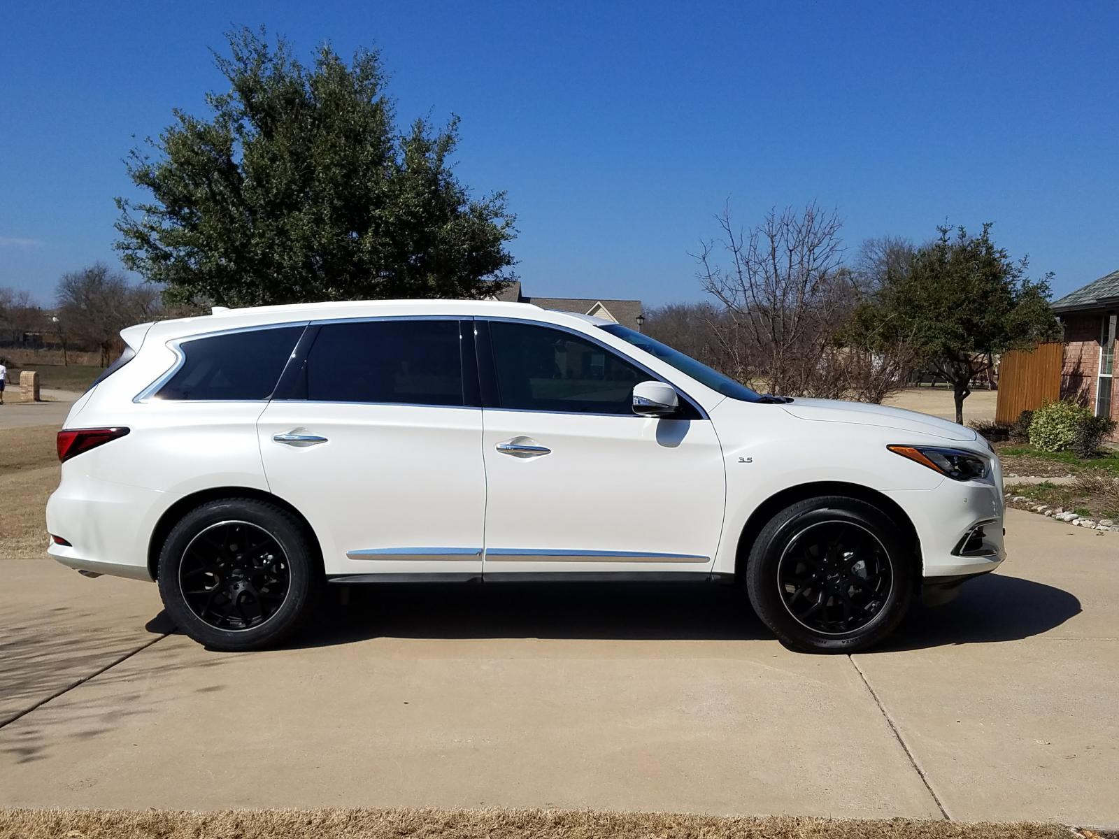 2017 Qx60 Majestic White With Gianelle Puerto Wheels