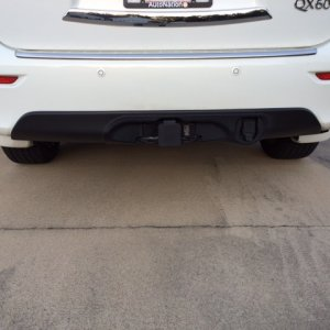 QX60 Infiniti dealer installed hitch, wiring harness and finisher
